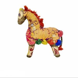 Vintage Rajasthan Embroidered Fabric Horse
